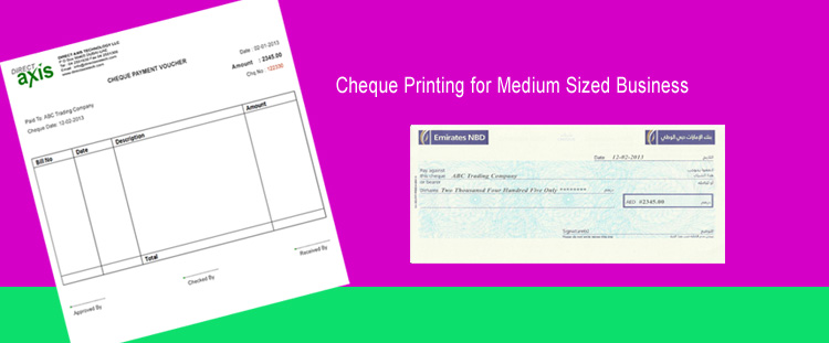 The Cheque Printing Software Uae Dubai Abu Dhabi Sharjah Middle